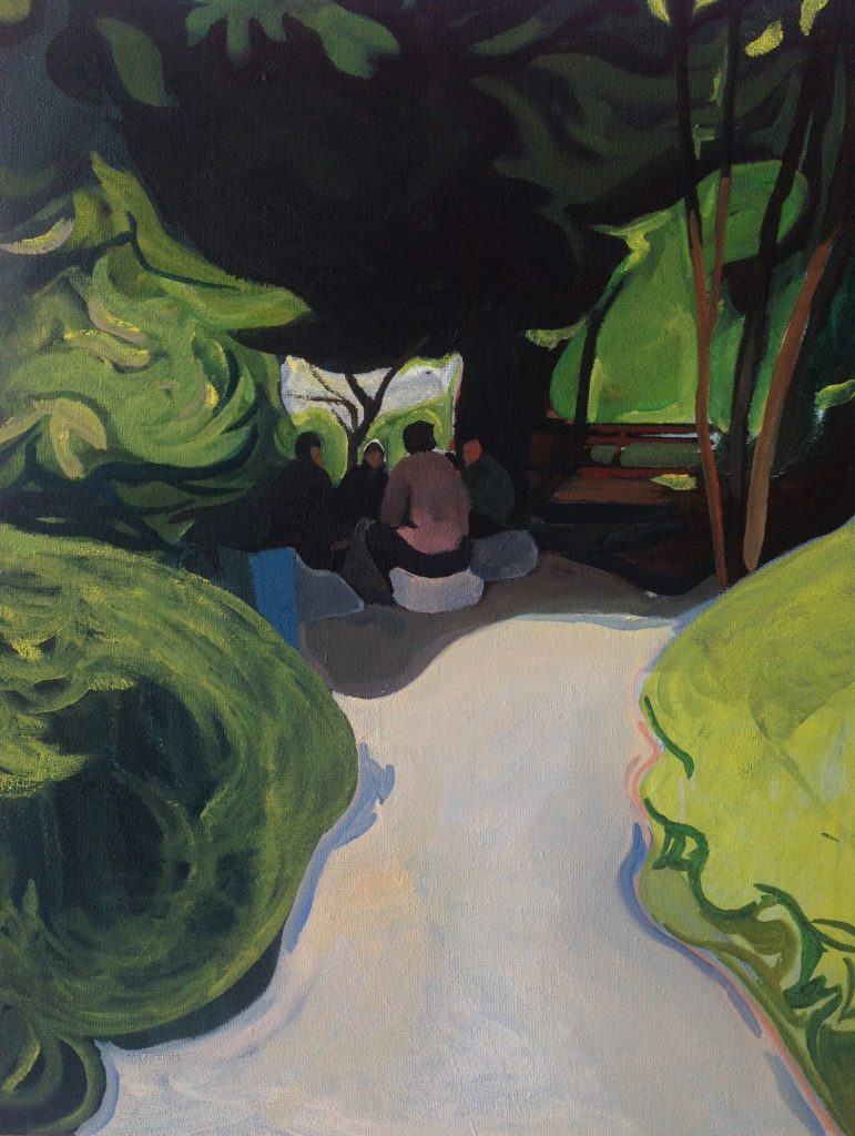 "Xiao Jiang ""Park"", Oil on Canvas, 80cmx100cm 2015"