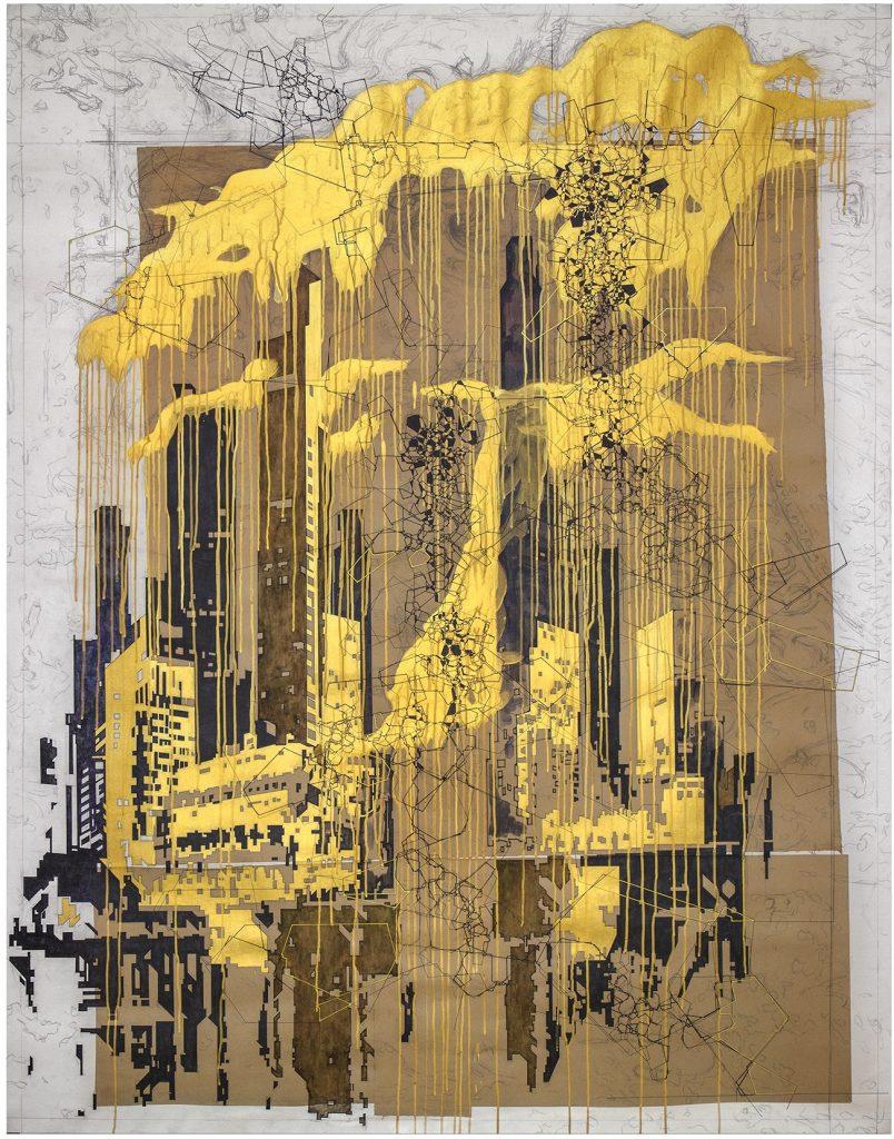 (小图)阿琦·路迷 Aki Lumi, Fracto-graph _CITY_190x150cm (2)
