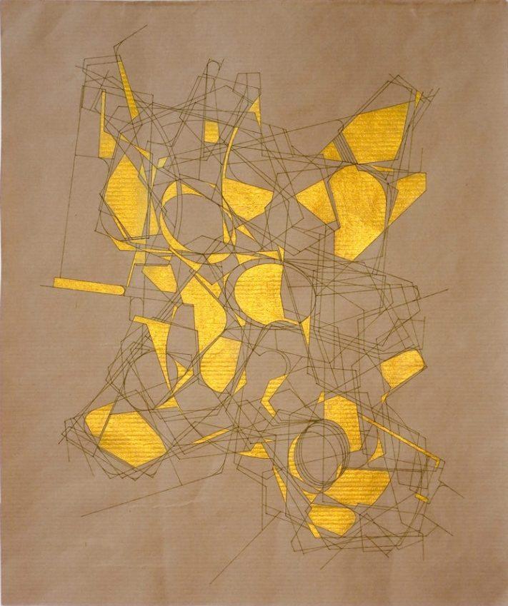 """Aki Lumi """"Trace 603"""", ink drawing on paper, 33 x 28 cm, 2013"""